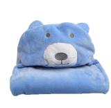 Leegoal 3D Bear Bayi Bayi Baru Lahir Hooded Bath Handuk Selimut Biru Diskon Akhir Tahun
