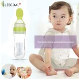 Cuci Gudang Leegoal 90 Ml Silicone Squeeze Sendok Makan Bayi Botol Silikon Makan Sendok Minum Obat Sendok Kuning Intl