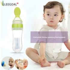 Spesifikasi Leegoal 90 Ml Silicone Squeeze Sendok Makan Bayi Botol Silikon Makan Sendok Minum Obat Sendok Kuning Intl Terbaik