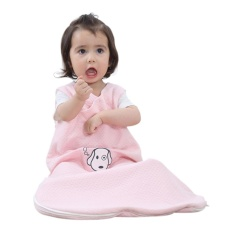 Leegoal Baby Sleeping Bag Wearable Blanket 100% Cotton Sleepsack Di Musim Panas, Baby Pink, L.-Intl