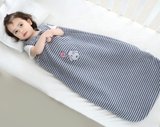 Leegoal Baby Sleeping Bag Wearable Blanket 100% Cotton Sleepsack Di Musim Panas, Garis Hitam dan Putih, L. -Intl