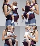 Beli Leegoal Breathable Baby Carrier Dengan Kursi Hip Dan Hood Posisi Depan Dan Belakang Ungu Intl Murah