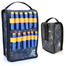 Leegoal Peluru Lembut Kamuflase Tas, Toy Tool EVA Cartridge Bag Peluru Lembut Penyimpanan Tas untuk NERF N-strike Elite, Mega dan Rival Series (C)-Intl