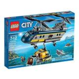 Harga Hemat Lego City 60093 Deep Sea Helicopter Set Game Play Kid Toy Submarine Scuba Diver Heli Pilot Shark Minifigure Gift Original Promo New Sealed Box