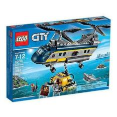 Diskon Lego City 60093 Deep Sea Helicopter Set Game Play Kid Toy Submarine Scuba Diver Heli Pilot Shark Minifigure Gift Original Promo New Sealed Box Banten