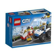 LEGO City - 60135 ATV Arrest Set Building Toy Town Car Police Cop Motorcar Kid Toys Pursuit Crook Minifigure Original Promo Bricks Blocks Child Play Game Kit New Sealed Box