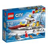 Miliki Segera Lego City 60147 Fishing Boat Set Building Toy Shark Animal Fish Town Kid Gift Original Brick Promo Play Game Child Toys Ori New Sealed Box