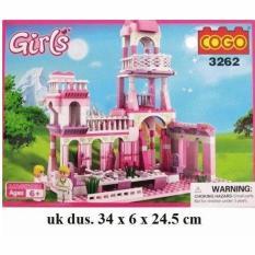 Lego Cogo Princess Palace Castle Istana - 254pcs Cogo 3262