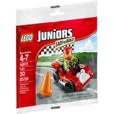 LEGO Juniors - 30473 Racer Polybag Building Toy Speed Fast Racing Car Junior Kid Toys Racer Motorcar Original Bricks Promo Ori Race Formula Champion Children Gift Driver City Minifigure New Sealed