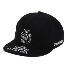 Surat Bordir Besi Cincin Snapback Topi Unisex Bayi Bisbol Cap Hat (Hitam)-Intl