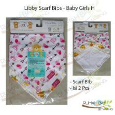 Libby Baby Scarf Bib H - Slaber Scarf Motif Baby Girls