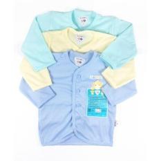 Jual Libby Baju Panjang Polos Newborn 3 6Bulan S M L 3 Pcs Libby Grosir