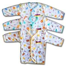 Libby Baju Tidur Tangan Panjang Kancing Depan - 3 Buah