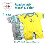 Ongkos Kirim Libby Premium Romper Boy Jumper Segiempat Isi 4 Pcs 3 6 Months Di Indonesia