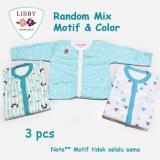 Libby Premium Sleepsuit Boy Jumper Panjang Tutup Kaki Isi 3 Pcs 3 6 Months Diskon Akhir Tahun
