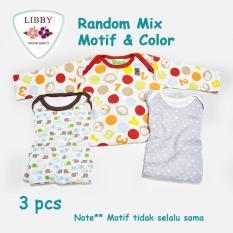 Jual Libby Premium Sleepsuit Boy Jumper Panjang Tutup Kaki Isi 3 Pcs 6 9 Months Libby Ori