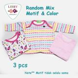 Harga Libby Premium Sleepsuit G*rl Jumper Panjang Tutup Kaki Isi 3 Pcs 6 9 Months Libby Baru