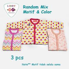 Jual Libby Premium Sleepsuit G*rl Jumper Panjang Tutup Kaki Isi 3 Pcs 3 Months Satu Set