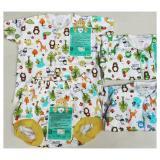 Libby Set Baju Lengan Pendek Kancing Tengah Dan Celana Pendek Motif 3 Setel Multicolor Nb 3 Bulan 1 Set 3 Pcs Di Riau