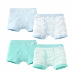 Jual Cepat Little Boys 4 Pack Briefs Bayi Balita Anak Underpants 100 140 Blue Green Boxer Intl