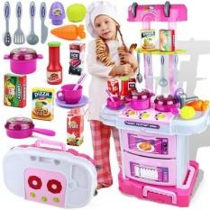 Jual Little Chef Kitchen Set 3 In 1 Branded Original