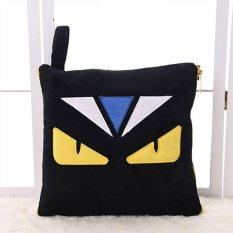 Little Devil Monster Kecil Adalah Solid Dual Bantal Bantal Pillowcar Selimut Hitam-Intl