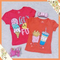 Littlekey - Atasan Kaos Anak Perempuan 2Pcs