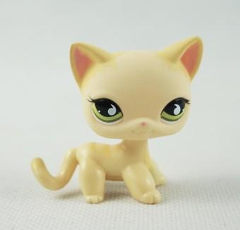 Littlest Pet Shop Tan Orange Patch Eye Beagle Dog Green Eyes Ultra LPS #1664