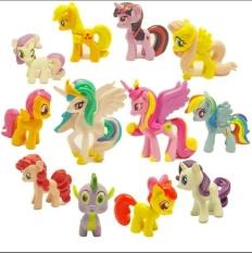 Beli Banyak 12 Pcs My Little Pony Cake Toppers Pvc Action Figures Kids G*Rl Toy Dolls Baru Intl Kredit Tiongkok