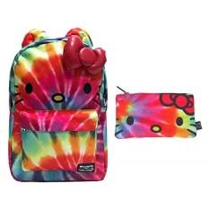 Loungefly Hello Kitty Backpack Back Pack & Pensil Case Bundle Set-Intl
