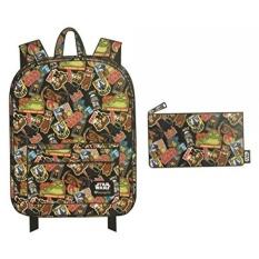 Loungefly Star Wars Backpack dan Pensil Case Bundle Set untuk Kembali Ke Sekolah-Intl
