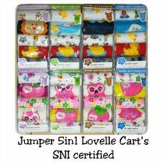 Lovelle Cart's Baby Jumper 5 in 1 Bodysuit Baju Bayi Umur 9 Bulan - 1 pack 5 pcs