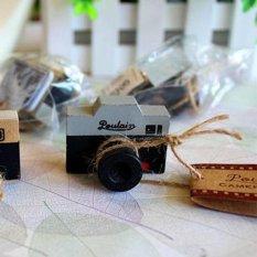 Lovely 2 Model Korea Kayu Retro Camera Rubber Stamp Seal Grey & Brown DIY-Intl