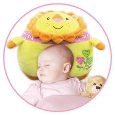 Lovely Baby Plush Animal Sleep Pillow Soft Leher Perlindungan Dukungan Kepala Newborn Lion Bantal Perawatan 21.5 Cm-Intl