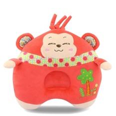 Lovely Baby Plush Animal Sleep Pillow Soft Leher Perlindungan Dukungan Kepala Newborn Monyet Bantal Perawatan 21.5 Cm-Intl