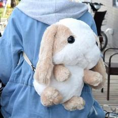 Lucu Mewah Hewan Sekolah Tas dengan Telinga Kelinci Ransel Stuffed Bahu Tas Warna: ringan Cokelat Tinggi: 44 Cm