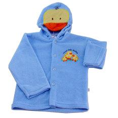 Lucky Angel MOMO Baby Mantel Topi Kepala Gambar Biru Size L- Jaket Handuk Bayi Biru