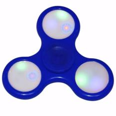 Lucky Fidget Spinner Hand Toys LED Mainan Tri-Spinner EDC Ceramic Ball Focus Games Lampu Led
