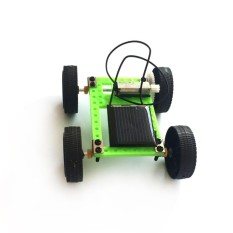 Lucky-G 1 Pcs Mini Solar Powered Toy Car Merakit DIY Kit Anak-anak Pendidikan Gadget Hobby Lucu, Hijau-Intl