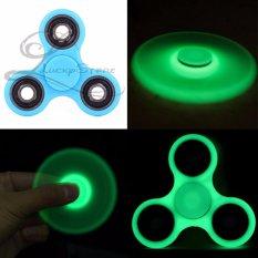 Lucky GLOW IN THE DARK Fidget Spinner Hand Spinner Hand Toys Focus Games / Mainan Spinner Tangan Penghilang Kebiasan Buruk - Biru - 1 Pcs