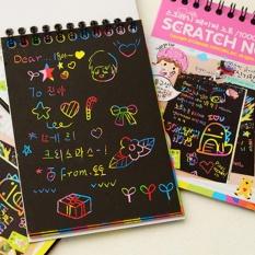 """LuckyG 12 Lembar Magic Scraping Kertas Gambar Colorful Painting Doodle Notebook Scratch Art Hadiah Bandung Photo: """"-anak Warna Acak -Intl"""