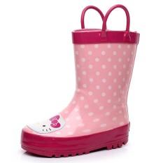 Lucu Anak Laki-laki atau Perempuan Otentik Overshoes Karet Hujan Sepatu