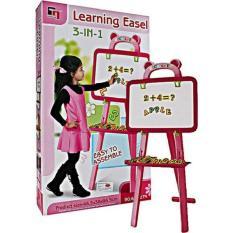 Beli Lumi Toys 3 In 1 Learning Easel Papan Tulis Belajar Pink Baru