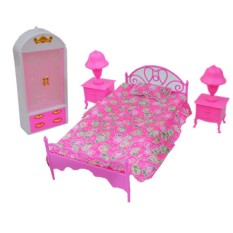 LumiParty Dolls Accessories Pretend Play Furniture Set Toys for Barbie Dolls as Xmas Gifts for Kids Style:bedroom - intl