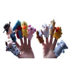 LumiParty Nursery Rhyme Boneka Jari Hewan Set untuk Old MacDonald Punya Farm