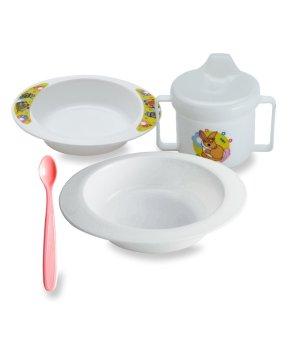 Harga preferensial Lusty Bunny Tempat makan Bayi Feeding Set 5in1 Peralatan makan Bayi - Putih beli sekarang - Hanya Rp13.515