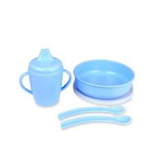 Lusty Bunny Tempat makan Bayi Feeding Set 6in1 Peralatan makan Bayi Blue