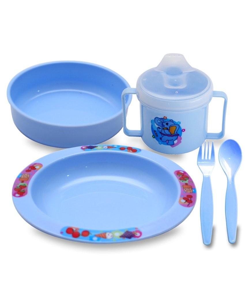 Bandingkan Toko Lusty Bunny Tempat makan Bayi Plate Set Peralatan makan Bayi- Biru sale - Hanya Rp17.274