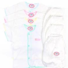 Spesifikasi Luvita Setelan Baju Lengan Pendek Celana Pendek Newborn 4 Set Terbaik