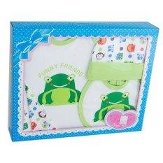 Lynea Baby Gift Set Frog Hijau GS 133 - Set Pakaian Bayi